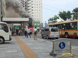 5月25日 平塚駅南口付近で火事が発生